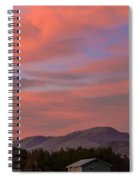 Sunset Over Squaw Butte Spiral Notebook