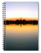 Sunset Over Still Waters Mirror Image Spiral Notebook