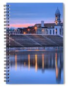 Sunset Over The Clinton County Courthouse Spiral Notebook