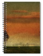 Sunset Over The Country Spiral Notebook