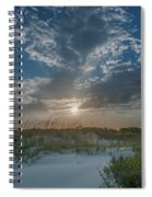 Sunset Over The Dunes Spiral Notebook