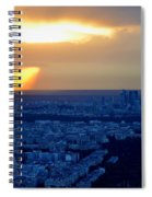 Sunset Over The Eiffel Tower Spiral Notebook
