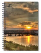Sunset Over The Great Falls Spiral Notebook