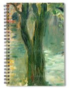Sunset Over The Lake Bois De Boulogne Spiral Notebook