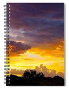 Sunset Over The Mc Dowell Mountains Spiral Notebook