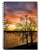 Sunset Over The Mississippi River Spiral Notebook