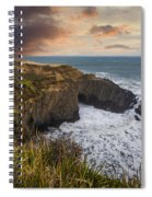 Sunset Over The Oregon Coast Spiral Notebook