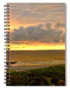 Sunset Over The Pacific Ocean Spiral Notebook