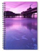 Sunset Over The Pier Spiral Notebook