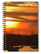 Sunset Over The Salem Willows Spiral Notebook