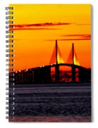 Sunset Over The Skyway Bridge Crop Spiral Notebook