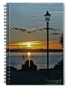Sunset Over The Solent Spiral Notebook