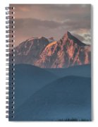 Sunset Over The Tantalus Mountains In Squamish Spiral Notebook