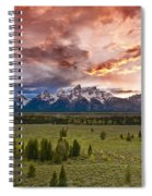 Sunset Over The Tetons  Spiral Notebook
