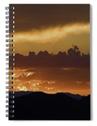 Sunset Over The Tucson Mountains Spiral Notebook
