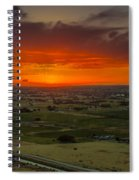 Sunset Over The Valley Spiral Notebook