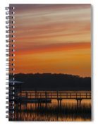 Sunset Over The Wando River Spiral Notebook