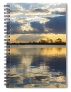 Sunset Over The Water Spiral Notebook