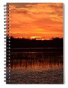 Sunset Over Tiny Marsh Spiral Notebook