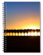 Sunset Over Tree Lined Road Spiral Notebook