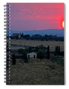 Sunset Over Tuscany In Italy Spiral Notebook