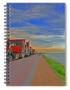 Sunset Over Volendam Spiral Notebook