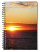 Sunset Painting - Orange Glow Spiral Notebook