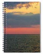 Sunset Panorama Over Atlantic Ocean Spiral Notebook