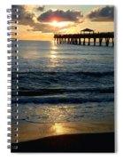Sunset Pier Spiral Notebook