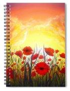 Sunset Poppies Spiral Notebook