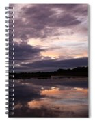 Sunset Reflected In A Lake Spiral Notebook