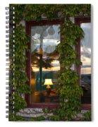 Sunset Reflection On Empress Window Spiral Notebook