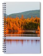 Sunset Reflections On Boreal Forest Lake In Yukon Spiral Notebook