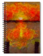Sunset Reflections On The Dock Spiral Notebook