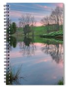 Sunset Reflections Square Spiral Notebook