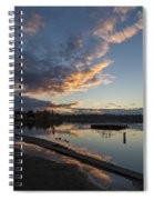 Sunset Ripples In Time Spiral Notebook