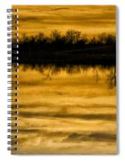 Sunset Riverlands West Alton Mo Sepia Tone Dsc03319 Spiral Notebook