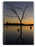 Sunset Riverlands West Alton Mo Portrait Dsc06670 Spiral Notebook