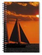 Key West Sunset Sail 3 Spiral Notebook