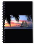 Sunset Sailboat Filtered Spiral Notebook