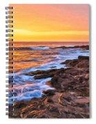 Sunset Shore Break Spiral Notebook