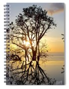 Sunset Silhouette And Reflections Spiral Notebook
