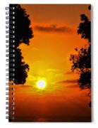 Sunset Silhouette By Diana Sainz Spiral Notebook