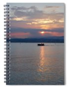 Sunset. Sirmione. Lago Di Garda Spiral Notebook