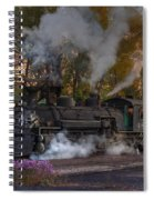 Sunset Steam Spiral Notebook