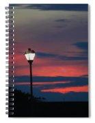 Sunset Streetlight Spiral Notebook