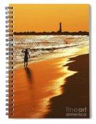 Sunset Surfer Spiral Notebook