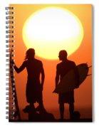 Sunset Surfers Spiral Notebook