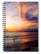 Sunset Surfing Spiral Notebook