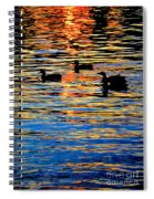 Sunset Swim Spiral Notebook
